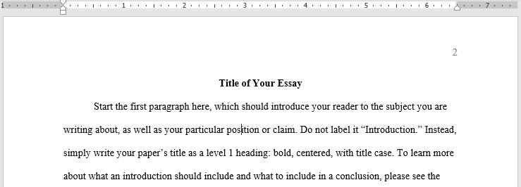 Title of Your Essay