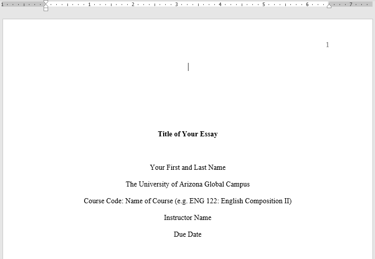 sample title page content